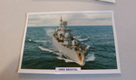 1969 HMS Destroyer  warship framed picture